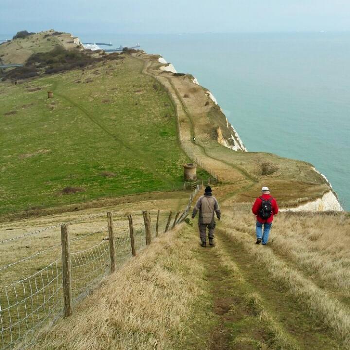 Kurz vor Dover Hafen