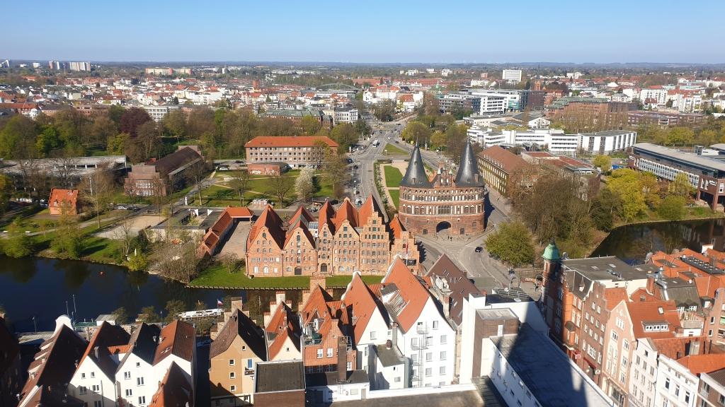 Blick über Lübecks Altstadt